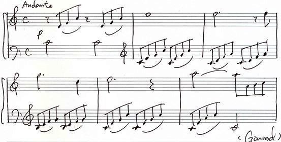 楽譜 バッハ=グノー 「アヴェ・マリア 」 アレンジ譜