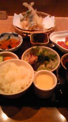 天ぷら&お刺身御膳