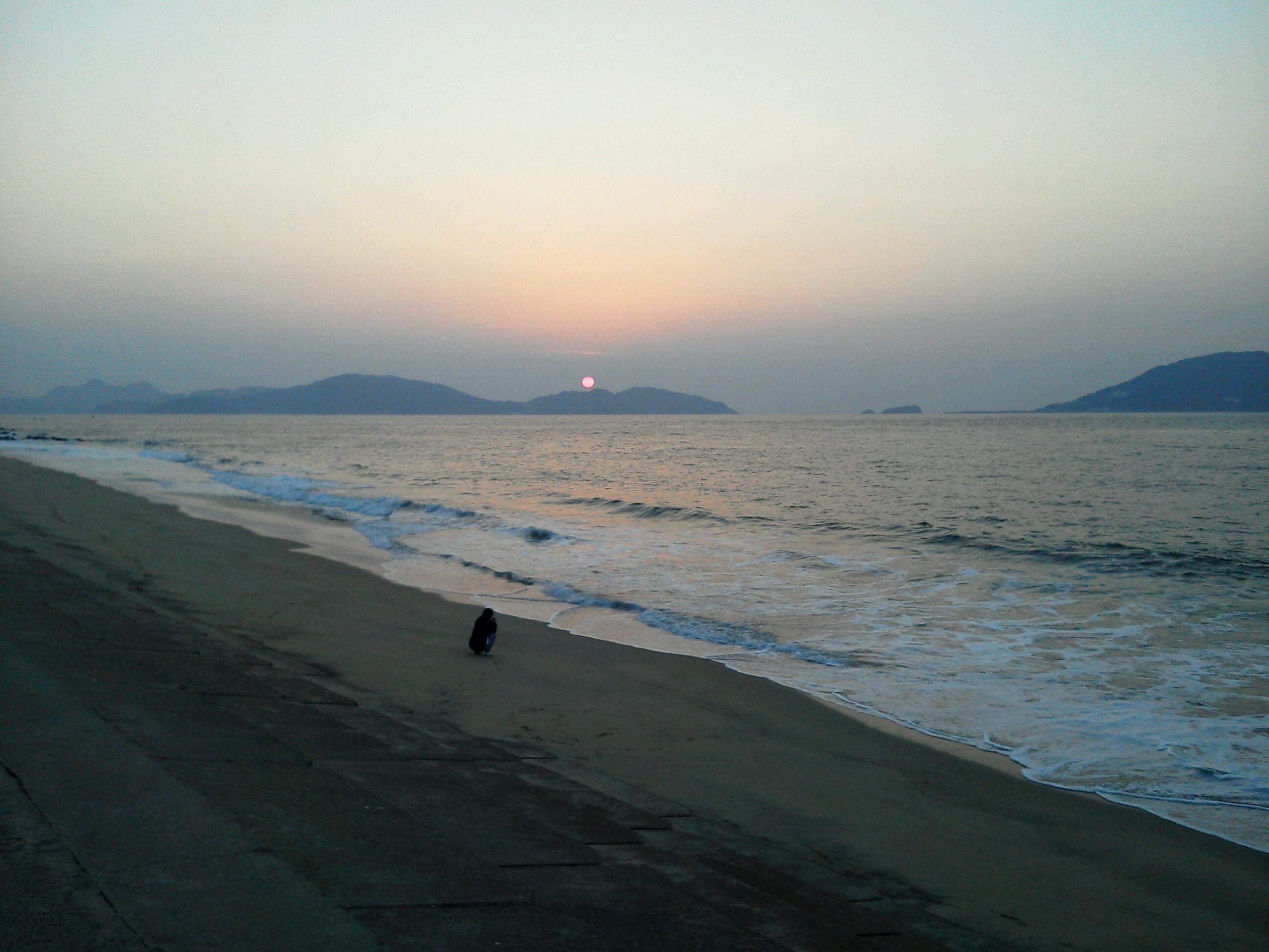 久里子と玄界灘