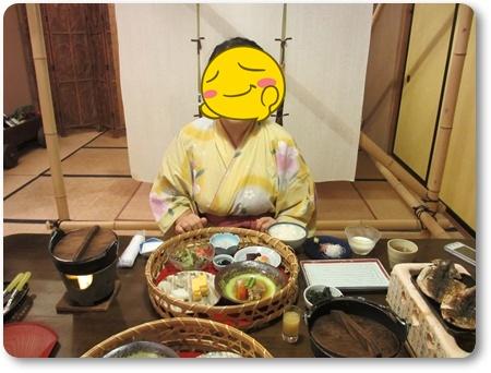一柳閣朝食,熱川温泉一柳閣501号室,一柳閣部屋付き露天風呂