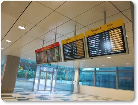 チャンギ空港ターミナル移動,チャンギ ターミナル3からターミナル1