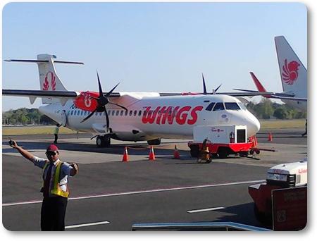 Wings Air,ライオン航空ウィングスエアー,インドネシア ウィングスエアー,ウィングスエアATR72-600.Wings Air ATR72-600,アジスチプト空港 wings air