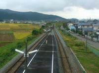 気仙沼線柳津駅4構内谷地方面