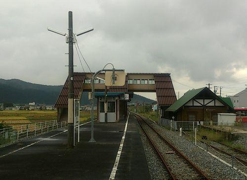 気仙沼線柳津駅7構内全景