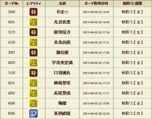 金くじ10番勝負(4月)