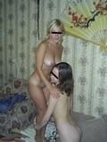 西洋美女2人と3Pセックス画像 3