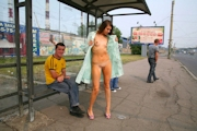 ロシア美女 野外露出ヌード画像 4