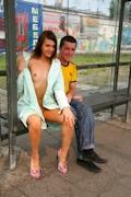 ロシア美女 野外露出ヌード画像 5