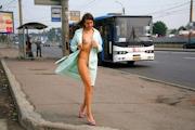 ロシア美女 野外露出ヌード画像 10