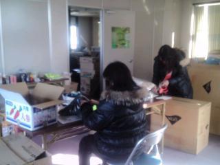 2013年末支援 滋賀 作業風景
