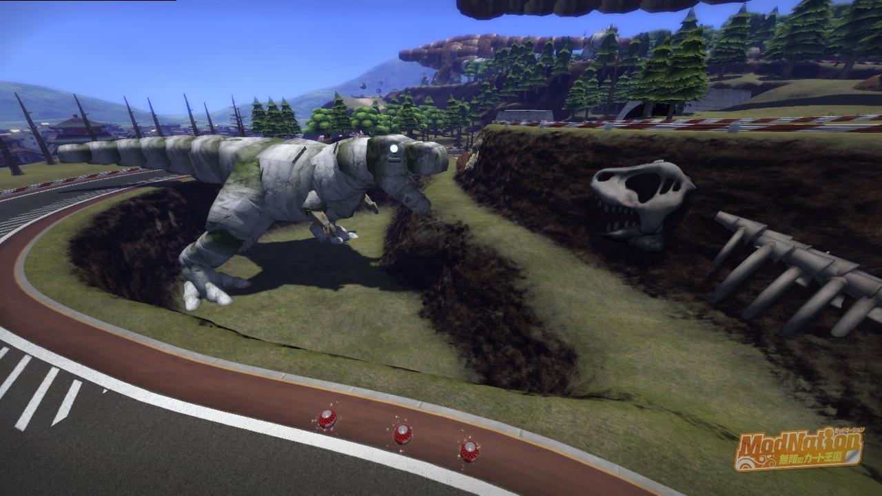 アルバートサウルスと白骨化した同胞?