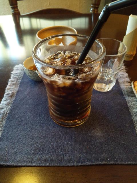 とても暑い日だったので、アイスコーヒーを♪