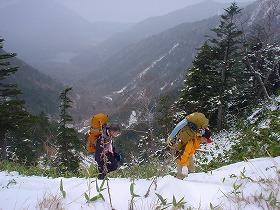 雪山にようこそ!