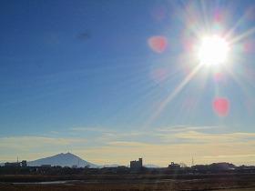 筑波山と初日の出