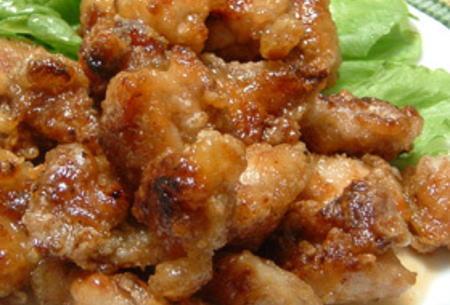 鶏肉の甘酢醤油炒め