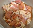 鶏肉の甘酢醤油炒め1