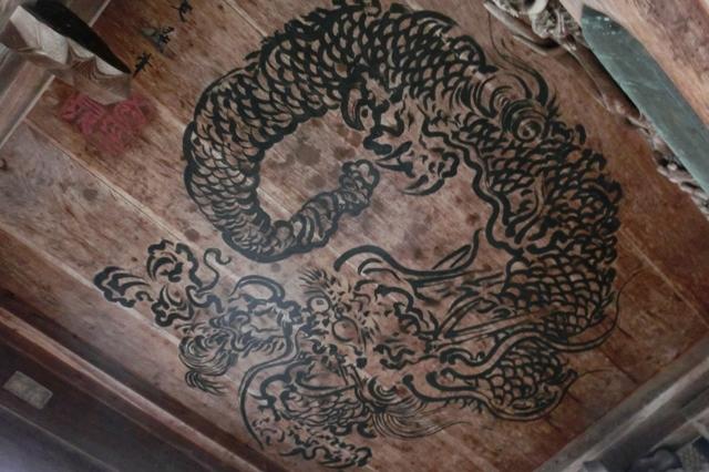 双龍図板絵「八方ニラミの龍」(谷文晁作)