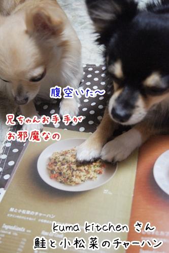 鮭と小松菜のチャーハン