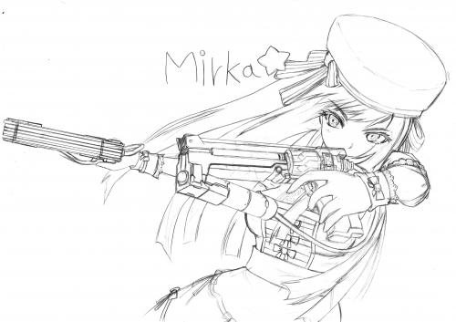 Mirka☆-線画