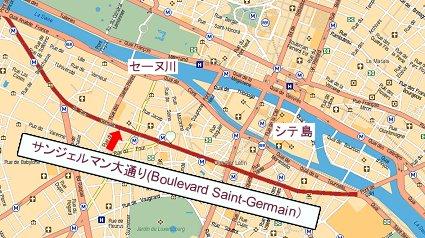 Boulevard Saint Germain 地図downsize