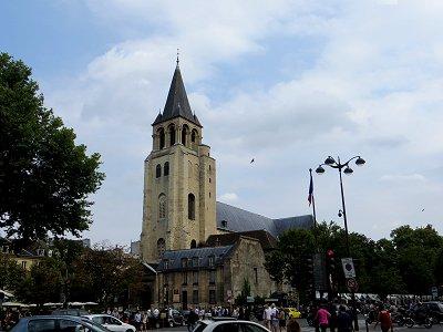 雑踏の中に静かに建つサンジェルマンデプレ寺院downsize