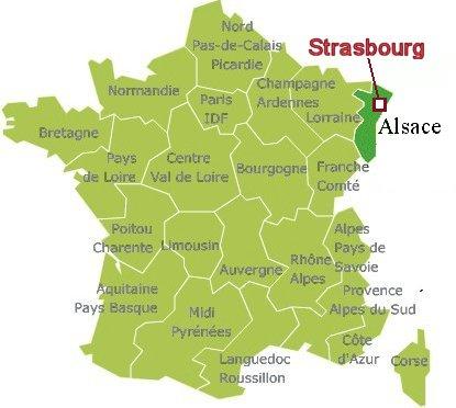 Strasbourgの地図