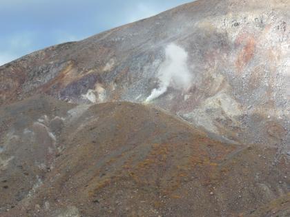 西吾妻山麓からの新噴煙