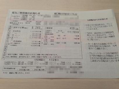 電気ご使用量のお知らせ(12月分)