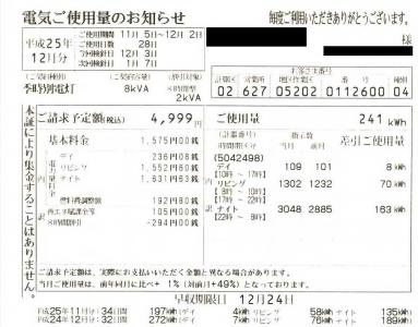 20131222_11月の電気代