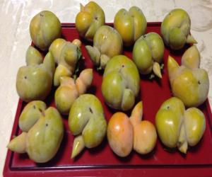 東京都大田区でとれた柿