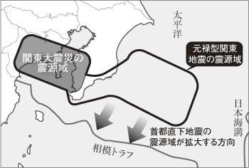 拡大する首都直下地震の想定震源地