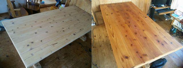 テーブル塗装20120610