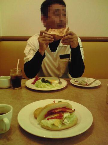 ツーリング前 朝食1 20120902