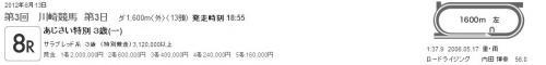 20120613 川崎8R あじさい特別 3歳