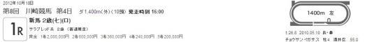20121018 川崎競馬 1R