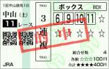 2013中山金杯3連複BOX