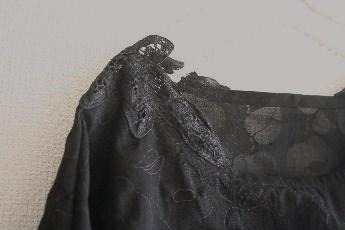 塩縮加工のドルマン袖プルオーバー