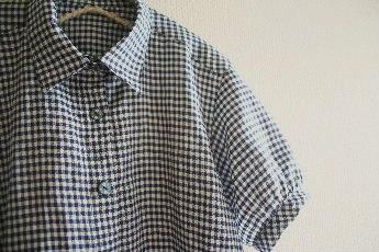 ギンガムチェックのシャツチュニック