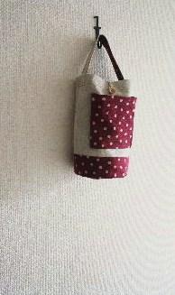 リネン帆布のバケツ型バッグ