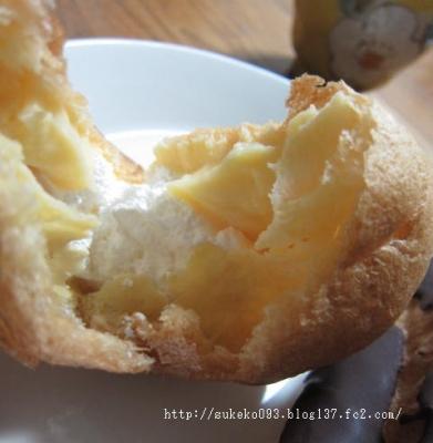 牛乳と卵のカスタード&ホイップシュー