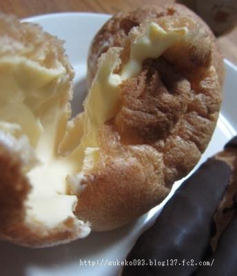 牛乳と卵のシュークリーム