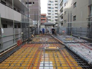 1階壁2階コンクリート打設①