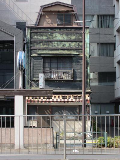 築地2丁目10キャンブレン屋根の銅板葺建物