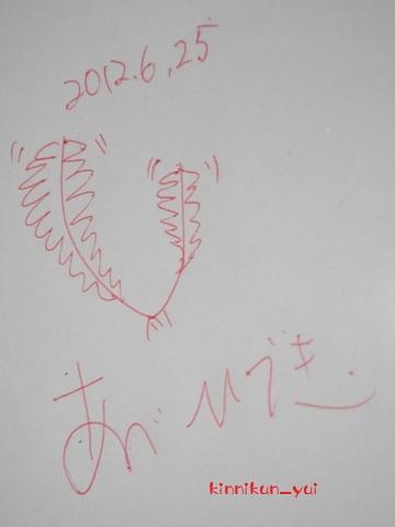 阿部先生のサイン
