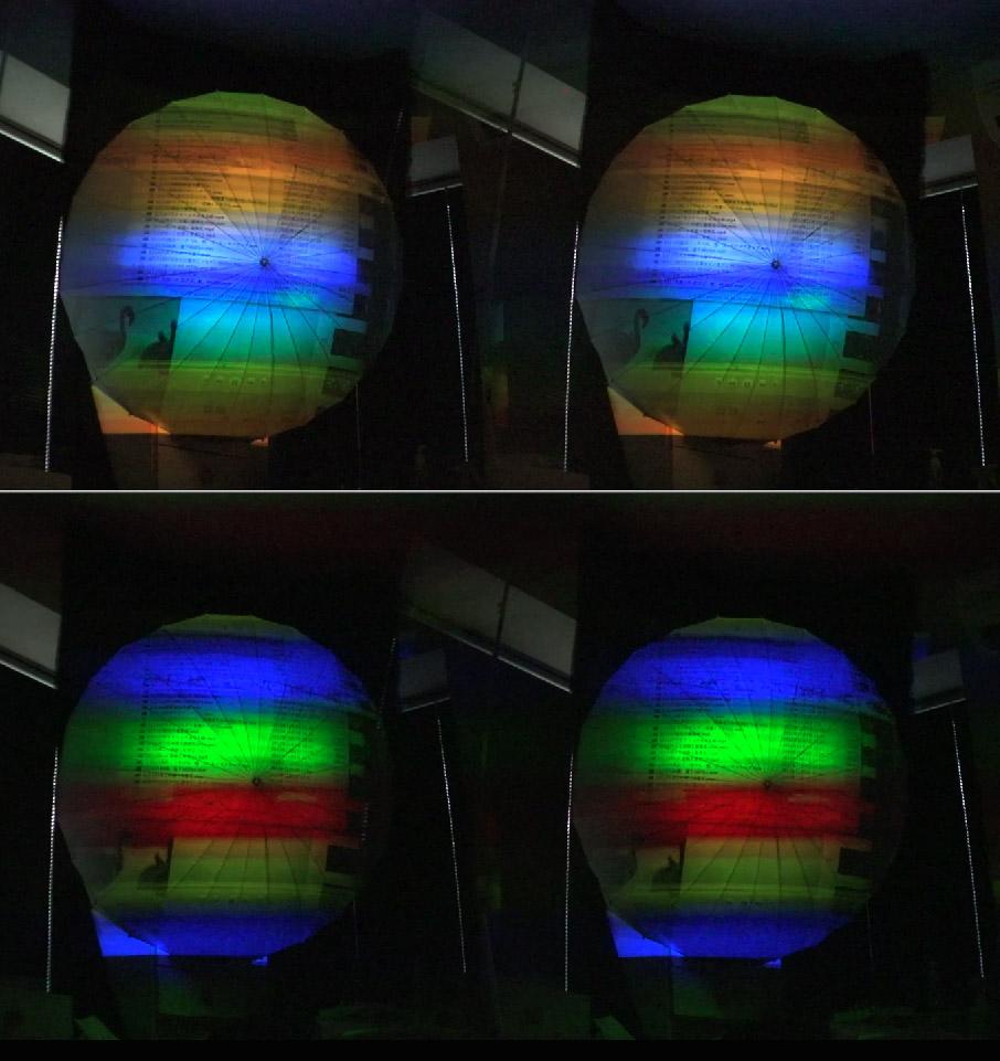 121122球状スクリーン投影中の縞
