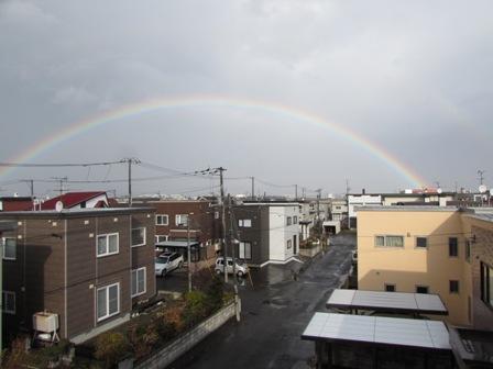 お久しぶりの虹