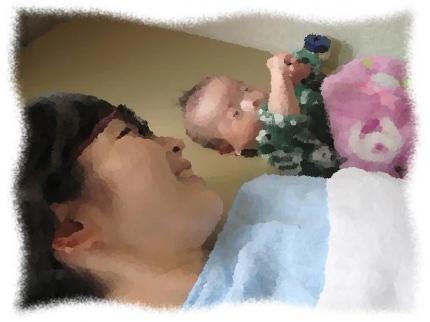2013年12月14日Sさん親子生後2ヶ月