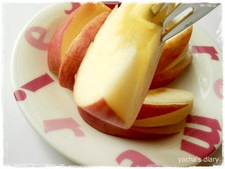 20130122りんごうさぎ食べる