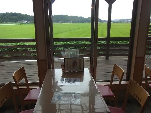 窓側席からの田園風景