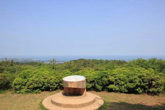 南展望台から太平洋を望む